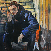 Portraits Paintings - Portrait of young man by Roberto Del Frate