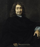 Famous Paintings - Portrait presumed to be Rene Descartes by Sebastien Bourdon