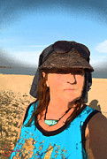 Selfportrait Photos - Portrait Sinai Beach Egypt by Colette V Hera  Guggenheim