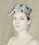 Portrait With The Snake Print by Zina Zinchik