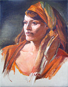 Shawl Paintings - Portrait Workshop with David Leffel by Kathryn Donatelli