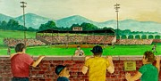 Baseball Originals - Portsmouth Athletics vs Muncie Reds 1948 by Frank Hunter