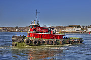 Seaport Photo Posters - Portsmouth Tug Poster by Joann Vitali
