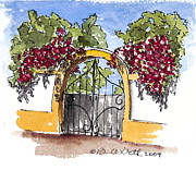 Bright Appearance Painting Prints - Portuguese Gate Print by Barbara Wirth