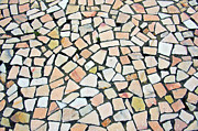Stone Ground Framed Prints - Portuguese pavement Framed Print by Carlos Caetano