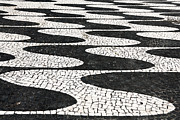 Manual Prints - Portuguese pavement Print by Gaspar Avila
