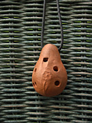 Wind Instrument Photos - Portuguese Terra Cotta Ocarina by Anna Lisa Yoder