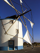 Grain Mill Prints - Portuguese Traditional Windmill Print by Jose Elias - Sofia Pereira