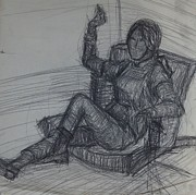 Chair Drawings Originals - Posed by Erika Chamberlin