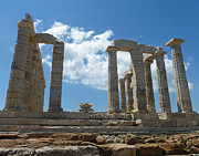 444 Prints - Poseidens Temple Greece 1 Print by Cheryl Del Toro
