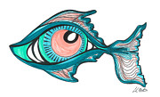 Sealife Art Drawings Posters - Poseidons Eye Poster by Carlos Martinez