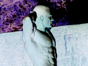 Invert Color Photos Digital Art - Poser Art Martian Muscle by Jake Hartz