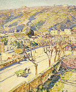 Farming Painting Prints - Posillipo Print by Childe Hassam