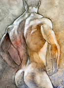 Muscle Mixed Media Prints - Posing 2 Print by Chris  Lopez