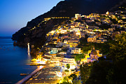 Leda Photography Metal Prints - Positano Glow Metal Print by Leslie Leda