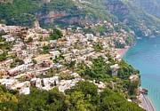 Beaches Originals - Positano Panorama by Marilyn Dunlap