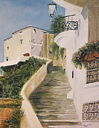 Staircase Painting Originals - Positano Staircase by Susan Bruner