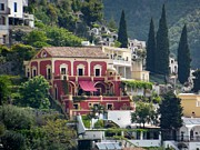 Under The Trees Posters - Positano Villa Poster by Marilyn Dunlap
