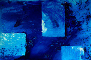 Blue Abstract Art Painting Originals - Positive Change by Sharon Cummings