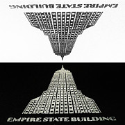 Empire State Building Digital Art - Positive - Negative by Natasha Marco