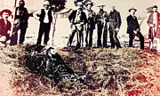 Lawmen Prints - Posse Gets Outlaw 1893 - Visalia California Print by Daniel Hagerman