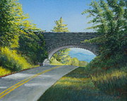 Blue Ridge Parkway Paintings - Post 117A by Kenneth Stockton