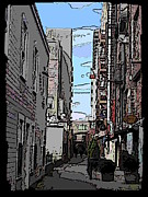 Post Alley Framed Prints - Post Alley 6 Framed Print by Tim Allen