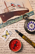 Compasses Prints - Post card and letter Print by Garry Gay