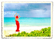 Beach Model Posters - Post Card from Hawaii Poster by Juli Scalzi