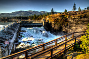 Spokane Framed Prints - Post Falls Dam Framed Print by Derek Haller