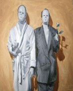 Men Art Painting Originals - Post Modern Intimacy I by Alison Schmidt Carson