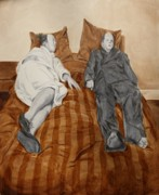 Women Together Painting Metal Prints - Post Modern Intimacy II Metal Print by Alison Schmidt Carson