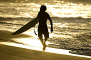 Photographers Fine Art Prints - Post Surf Gold Print by Sean Davey