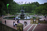 Bethesda Fountain Prints - Postcard from Central Park Print by Madeline Ellis