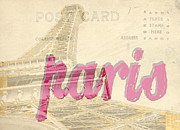 Letter Framed Prints - Postcard from Paris Framed Print by Edward Fielding