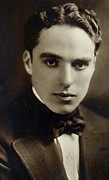 Portraiture Photo Framed Prints - Postcard of Charlie Chaplin Framed Print by American Photographer