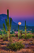 Pink Skies Prints - Postcard Perfect Arizona Print by Saija  Lehtonen