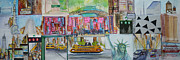 New York State Paintings - Postcards From New York City by Jack Diamond