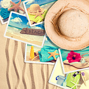 Suntan Photos - Postcards In The Sand by Christopher and Amanda Elwell