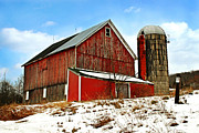 Farming Barns Digital Art Posters - Posted No Trespassing Poster by Christina Rollo