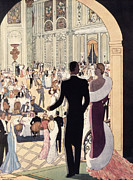 Ball Room Drawings Framed Prints - Poster Advertising the Rex Framed Print by Italian School