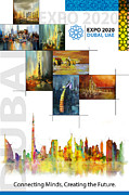 Merchandise Framed Prints - Poster Dubai Expo - 11 Framed Print by Corporate Art Task Force
