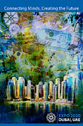 Dubai Paintings - Poster Dubai Expo - 6 by Corporate Art Task Force