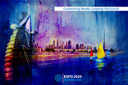Merchandise Framed Prints - Poster Dubai Expo - 9 Framed Print by Corporate Art Task Force