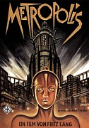 Fiction Drawings Framed Prints - Poster from the film Metropolis 1927 Framed Print by Anonymous