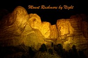 Abraham Lincoln Pictures Prints - Poster of Mount Rushmore Print by John Malone
