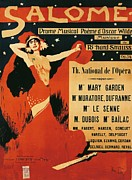 Advertisements Framed Prints - Poster of opera Salome Framed Print by Richard Strauss