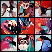 Marlene Burns Paintings - Poster Of Predators by Marlene Burns