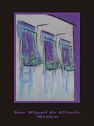 Iron  Pastels Posters - Poster - Purple Balcony Poster by Marcia Meade