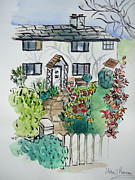 White House Mixed Media - Postmans Cottage by Helen J Pearson